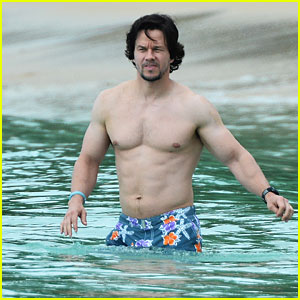 Mark Wahlberg Shows Off Ripped Body in Barbados