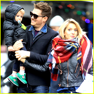 Michael Buble Takes His Son Noah to a Christmas Theme Park!