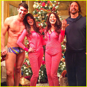 Michael Phelps Goes Practically Naked to Pajama Party with Girlfriend Nicole Johnson