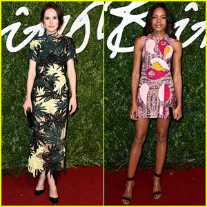 Michelle Dockery & Naomie Harris Are Beautiful Ladies at the British Fashion Awards!