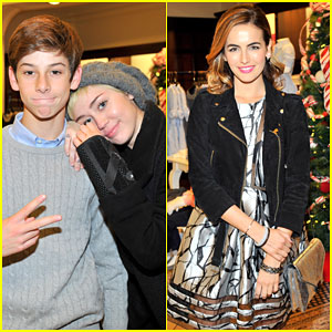 Miley Cyrus & Camilla Belle Celebrate Christmas with Brooks Brothers & St. Jude Children's Hospital