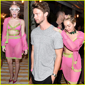 Miley Cyrus Wears Mesh to Party with Patrick Schwarzenegger