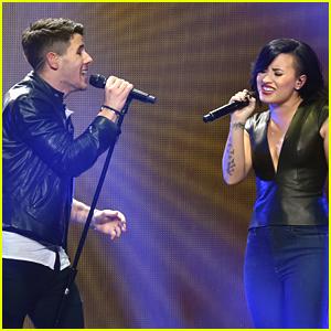 Nick Jonas & Demi Lovato Reunite at KIIS FM's Jingle Ball For 'Avalanche'