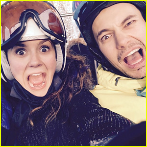 Nina Dobrev Goes Snowboarding with Family for the Holidays