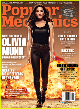 Olivia Munn is Blazing Hot on 'Popular Mechanics' February 2015 Cover