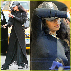 Rihanna Goes Braless to Do Some Shopping in New York City