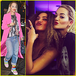 Rita Ora & Beyonce's Kissy Faces Show Their Silly Side at Holiday Celebration