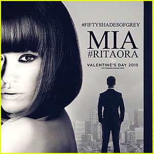 Rita Ora Goes Topless in 'Fifty Shades of Grey' Character Poster