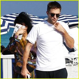 Robert Pattinson & FKA twigs Soak Up Some Sun on the Beach