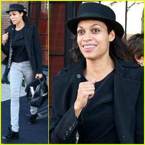 Rosario Dawson is All Smiles After Adopting 12-Year-Old Girl