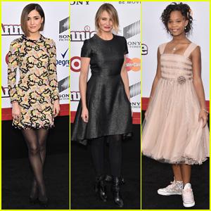 Rose Byrne & Cameron Diaz Bring 'Annie' to the Big Apple with Quvenzhane Wallis & Jamie Foxx