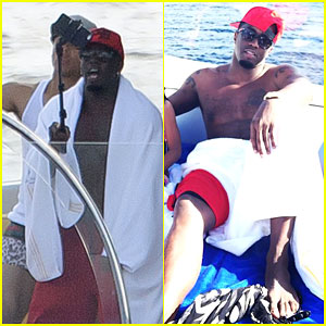 """Sean """"Diddy"""" Combs Uses a Selfie Stick on His St. Barts Vacation"""