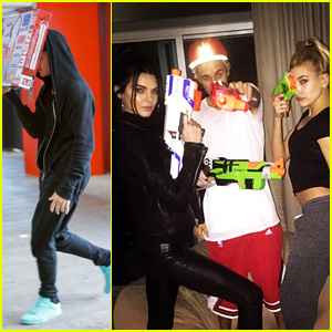 Justin Bieber Playfully Calls Kendall Jenner a Fool After a Nerf War