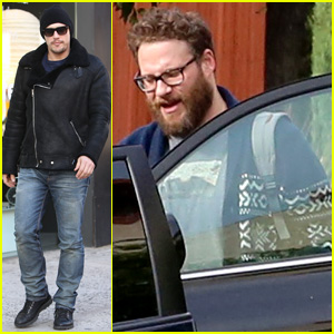 Seth Rogen Arrives at Sony Studios After Defending 'The Interview' on 'The Colbert Report' (Video)