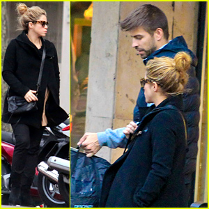 Shakira Keeps Her Baby Bump Bundled Up in a Warm Coat