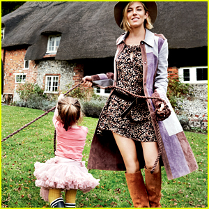 Sienna Miller Poses with Her Daughter for 'Vogue' Cover Shoot
