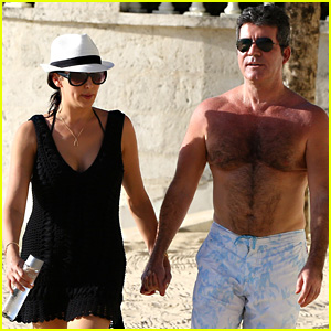 Simon Cowell Goes Shirtless While Vacationing in Barbados