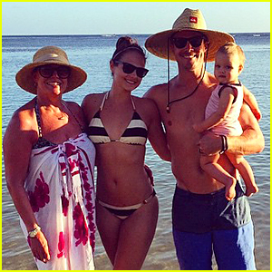 Shirtless Stephen Amell & Bikini-Clad Wife Cassandra Jean Enjoy Holiday Vacation With Daughter Mavi!