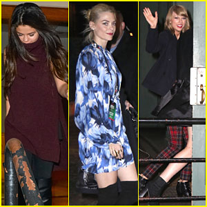Selena Gomez & Jaime King Head Home After Partying for Taylor Swift's Birthday