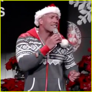 Dwayne 'The Rock' Johnson Sings 'Here Comes Santa Claus' in a Christmas Onesie - Watch Now!