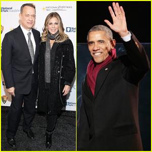 Tom Hanks & Wife Rita Wilson Help President Obama Light the National Christmas Tree - Watch Here!