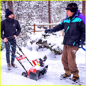 Zac Efron Plows Snow After Reaching 10 Million Followers on Twitter