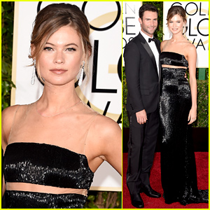 Adam Levine & Behati Prinsloo Are Picture Perfect at the Golden Globes 2015!