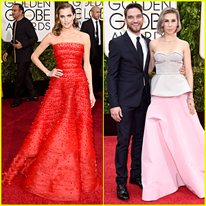 Allison Williams & Zosia Mamet Are Gorgeous 'Girls' at Golden Globes 2015