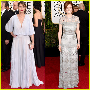 Amanda Peet & Ellie Kemper Both Rock Red Lips at Golden Globes 2015