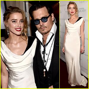 Amber Heard Gets Fiance Johnny Depp's Love & Support at Art of Elysium Gala 2015