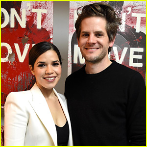 America Ferrera Supports Ryan Piers Williams at Art Exhibit