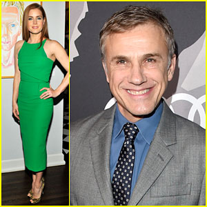 Amy Adams & Christoph Waltz Celebrate at Two Different Pre-Golden Globes Party 2015
