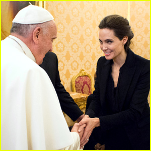 Angelina Jolie Meets the Pope at the Vatican - See the Photos!