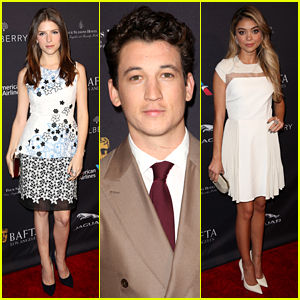 Anna Kendrick & Miles Teller Prep for Globes at BAFTA Tea Party