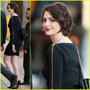 Anne Hathaway Reveals She Binge-Watched 'Toddlers & Tiaras' When She Had Swine Flu on 'Jimmy Kimmel Live'!