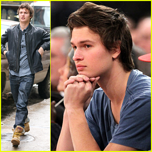 Ansel Elgort Makes It A New York Knicks Night & Runs Into Ben Stiller!