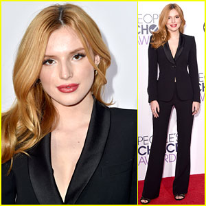 Bella Thorne Suits Up for People's Choice Awards 2015