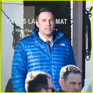 Ben Affleck Gets Busy on the Set of His New Movie