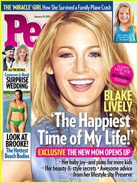 Blake Lively Calls Motherhood 'The Happiest Time' in Her Life