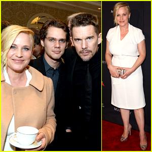 Boyhood's Patricia Arquette & Ethan Hawke Prep for Golden Globes with BAFTA Tea!