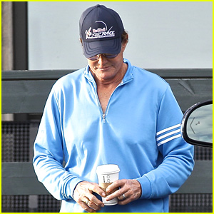 Bruce Jenner Tucks His Long Hair Under a Hat for Coffee Run