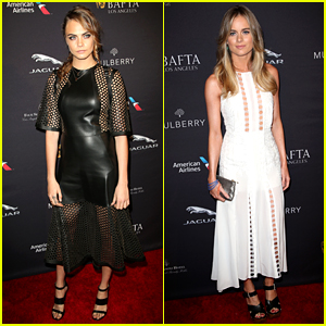 Cara Delevingne & Cressida Bonas Lead British Invasion at BAFTA Tea Party 2015!