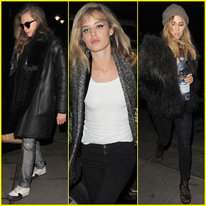 Cara Delevingne & Suki Waterhouse Celebrate Their Vogue Shoot with Dinner