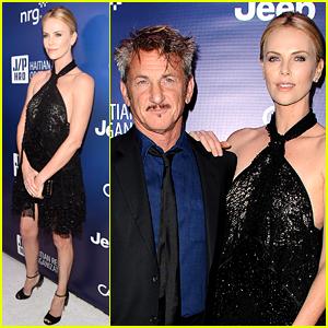 Charlize Theron Supports Sean Penn at Help Haiti Home Gala!