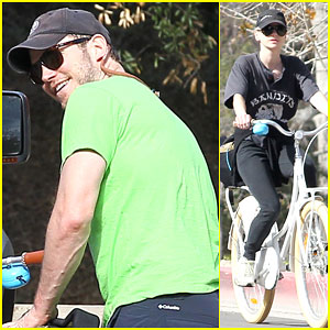 Chris Pratt & Anna Faris Spend Time Together For a Family Bike Ride