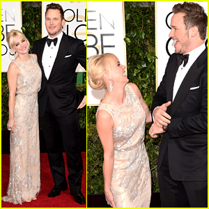 Chris Pratt & Anna Faris Look Like They're Having the Best Time at the Golden Globes 2015!