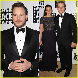 Chris Pratt & Matt Damon Bring Handsome to the ACE Eddie Awards 2015