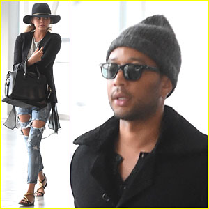 Chrissy Teigen & John Legend Had a Bit of a Scare on Their Plane Ride Back to the States