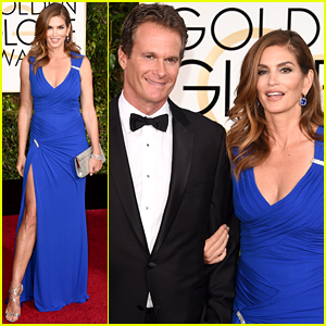 Cindy Crawford & Husband Rande Gerber Support Their BFF George Clooney at the Golden Globes 2015