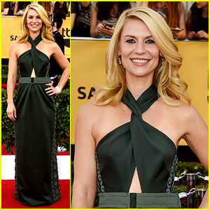 Claire Danes Nails Her Dark Green Look at SAG Awards 2015